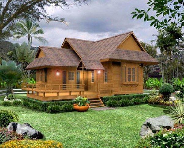 Gambar Rumah Kayu Terbaru Sketsa Denah Desain
