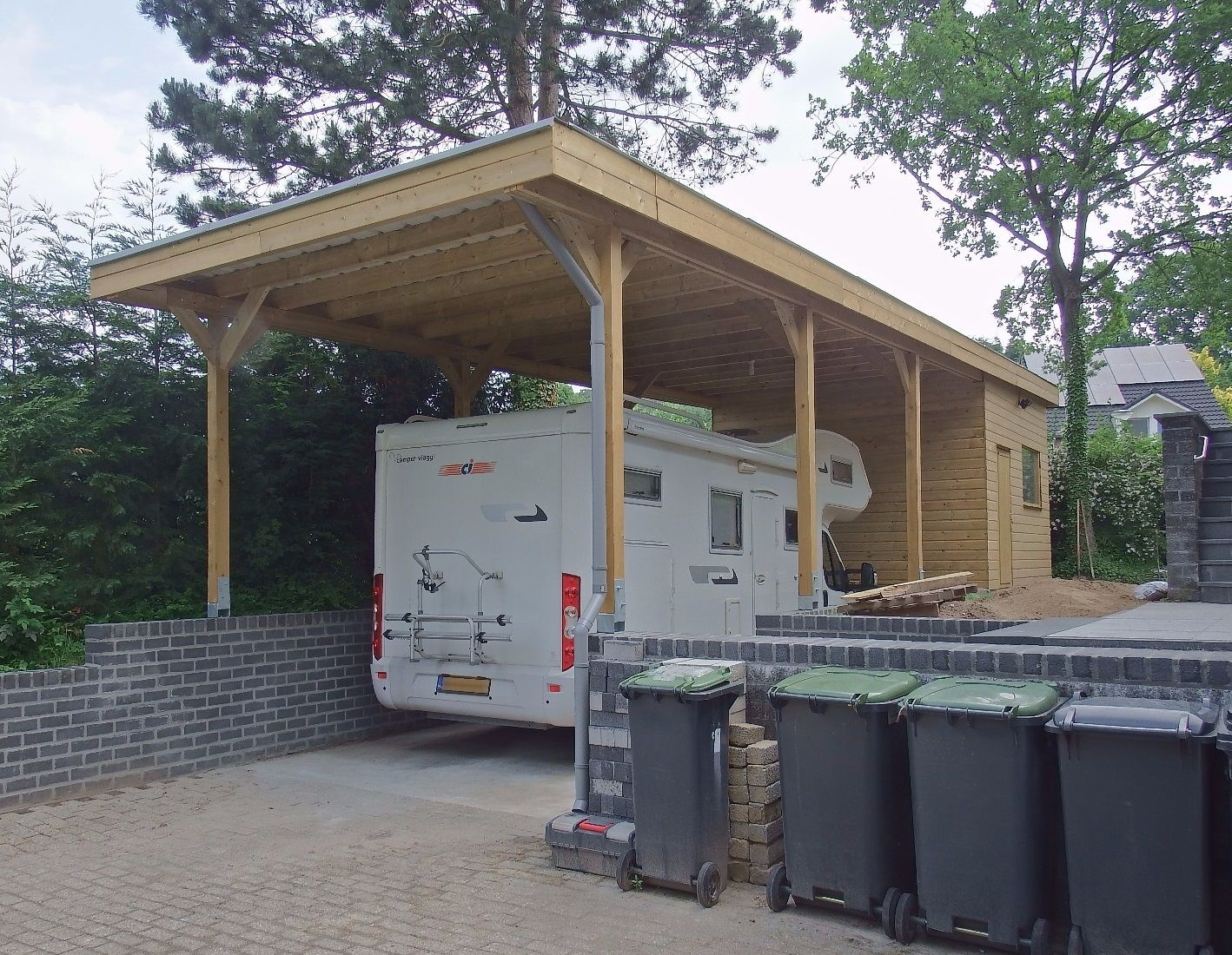 Voordelige Camper Carports In Alle Afmetingen Goedkopecarports Nl Carport Camper Tuinhuis