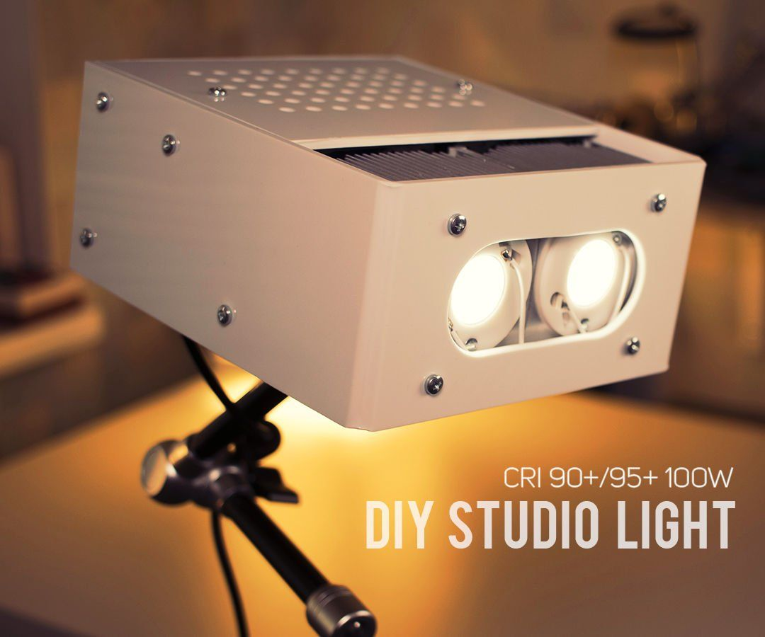 Diy 10000 Lumen Led Studio Light Cri 90 Diy Studio Lighting Led Studio Lights Studio Lighting