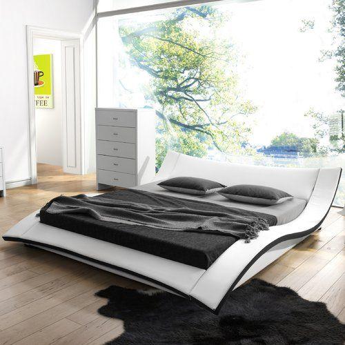 Damen Upholstered Platform Bed Wayfair Platform Bed Bed Murphy Bed - Logan-leather-bed-with-adjustable-headboard