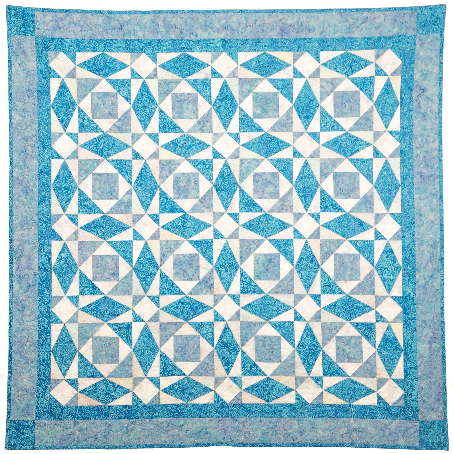Go qube 6 storm at sea throw quilt pattern pq10752 for Storm at sea quilt template
