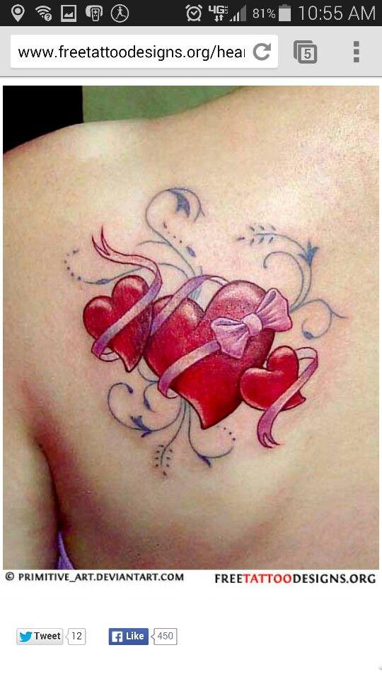 😍😍😍  tattoo ideen kleine herztattoos band tattoos