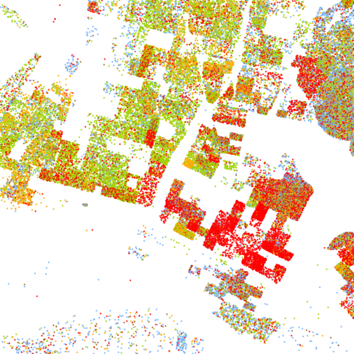 The Racial Dot Map One Dot Per Person For The Entire US - Racial map of the us
