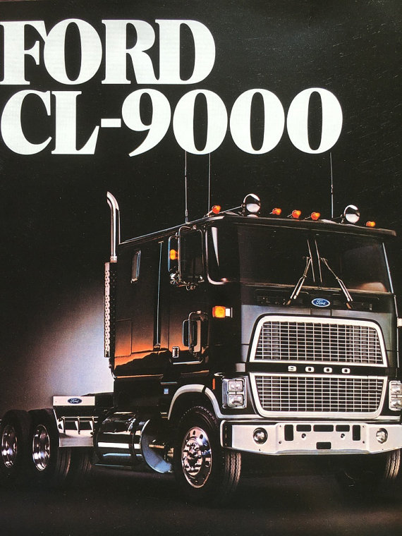 1983 Ford Cl 9000 Truck Brochure Specifications Advertising Vintage Sales Brochure Truck Enthusiast Gift Car Lover G Big Rig Trucks Big Ford Trucks Ford Trucks