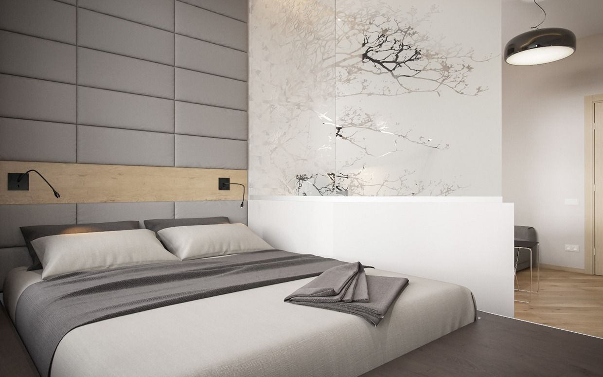 Simple modern master bedroom ideas  The simplicity of a studio apartment is beautiful in and of itself