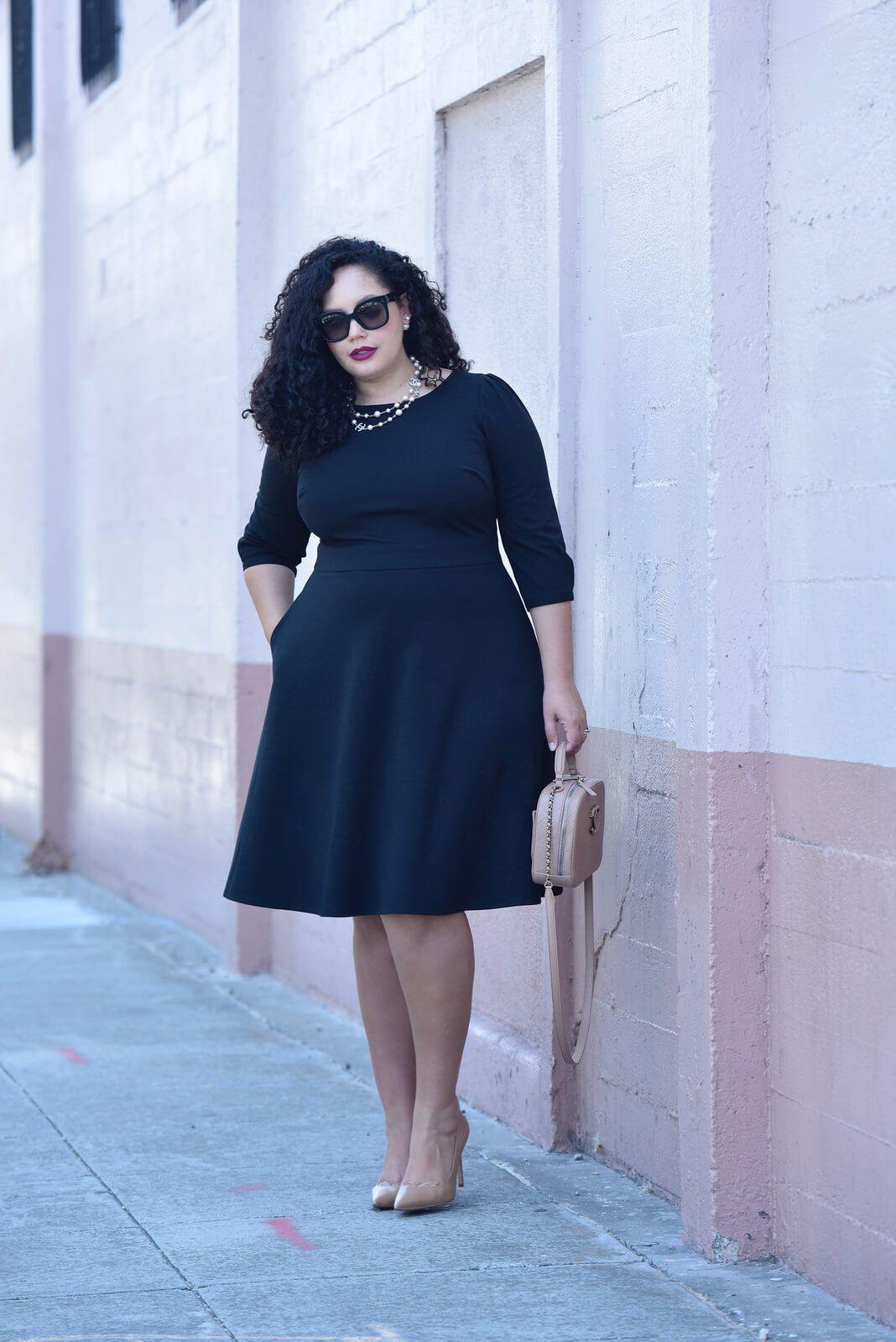 The Little Black Dress Of My Dreams Plus Size Black Dresses Plus Size Dresses Curvy Outfits [ 1600 x 1068 Pixel ]