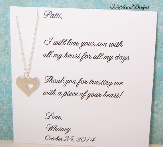 Wedding Gifts For Daughter In Law : , Mother in law wedding gift, wedding necklace, from daughter in law ...