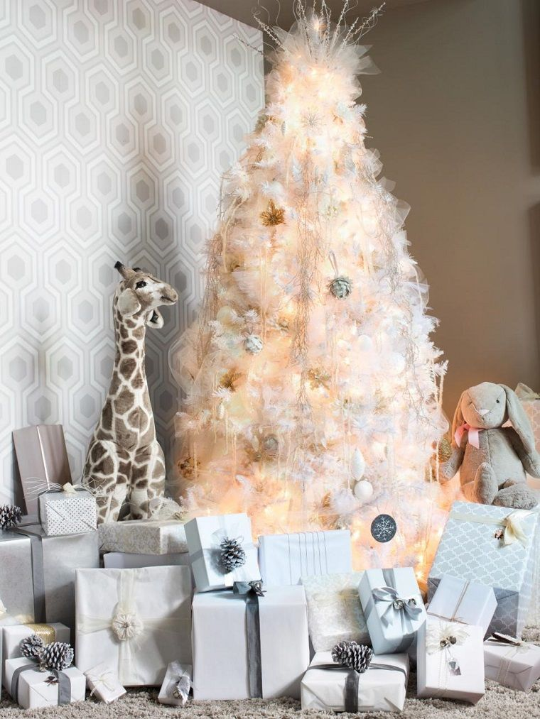 rbol de navidad blanco lujoso - Arboles De Navidad Blancos