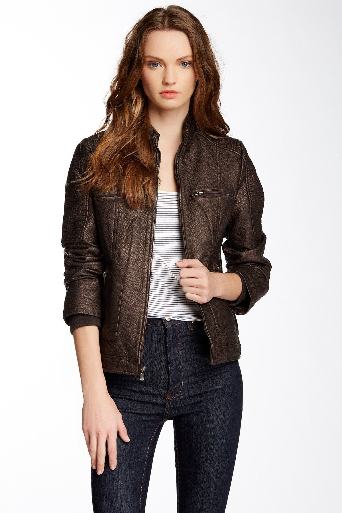 Truth Of Touch Brooklyn Faux Leather Jacket Faux
