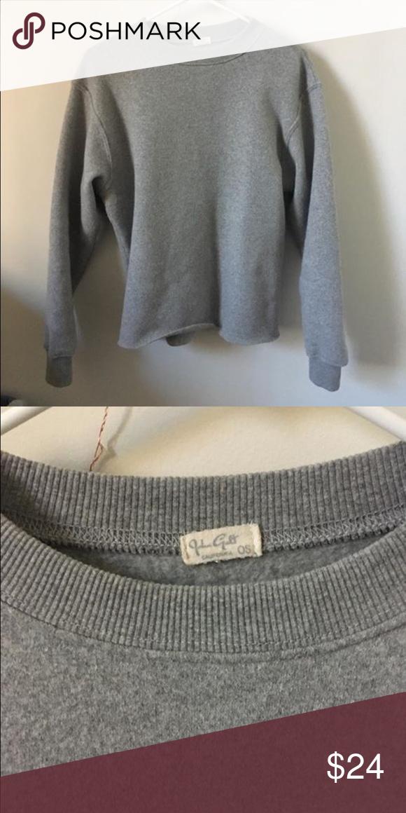 Brandy Melville sweater Brandy Melville, boxy, minimalist sweater. Grey, brand new Brandy Melville Sweaters