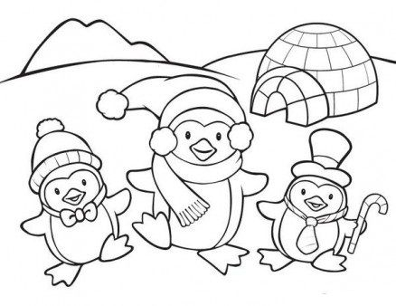 Cute Penguin Family Coloring Page Christmas Printables Pinterest - new christmas coloring pages penguins