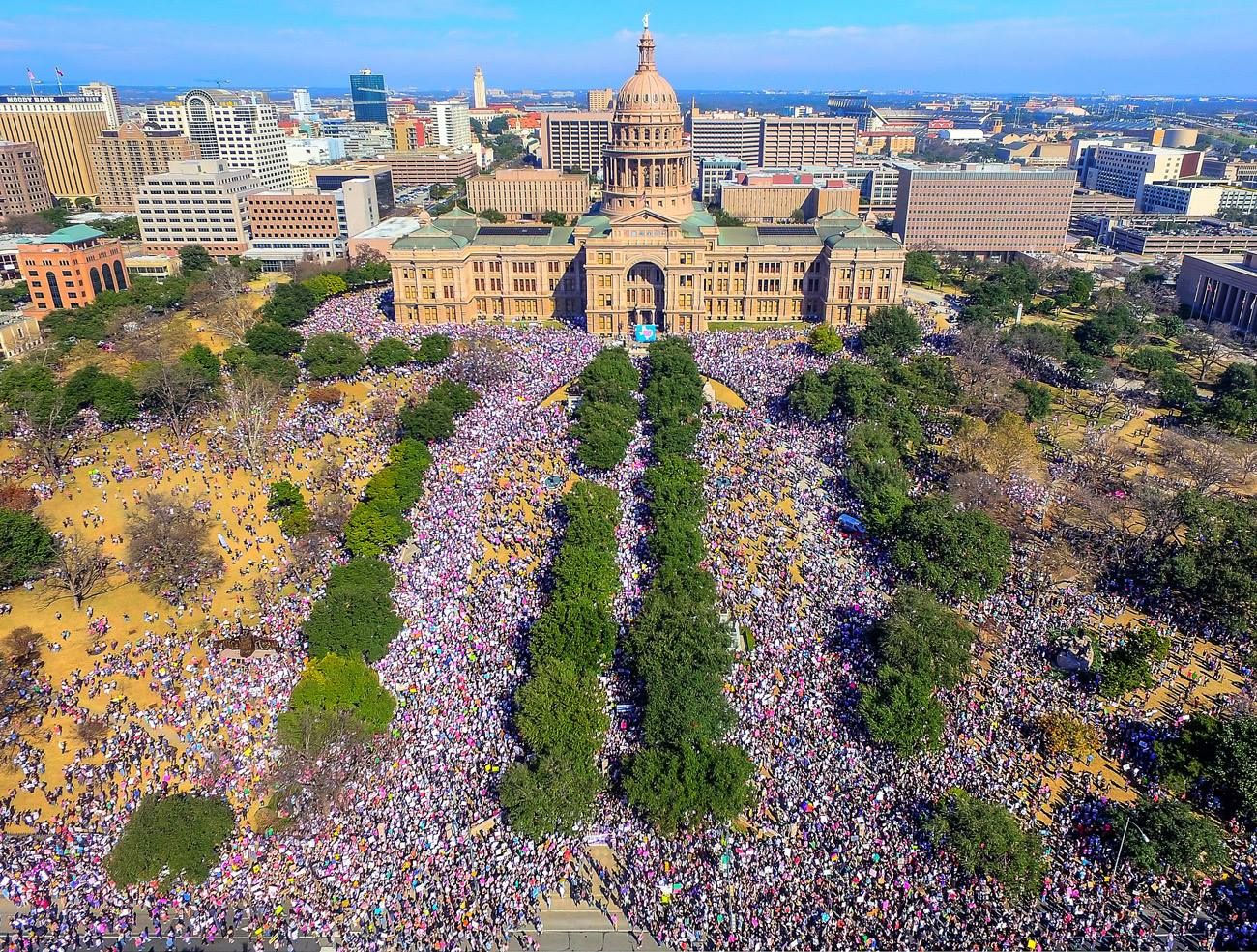 The Best Signs From The Women S March In Austin Texas Womens March Aerial Photo Aerial