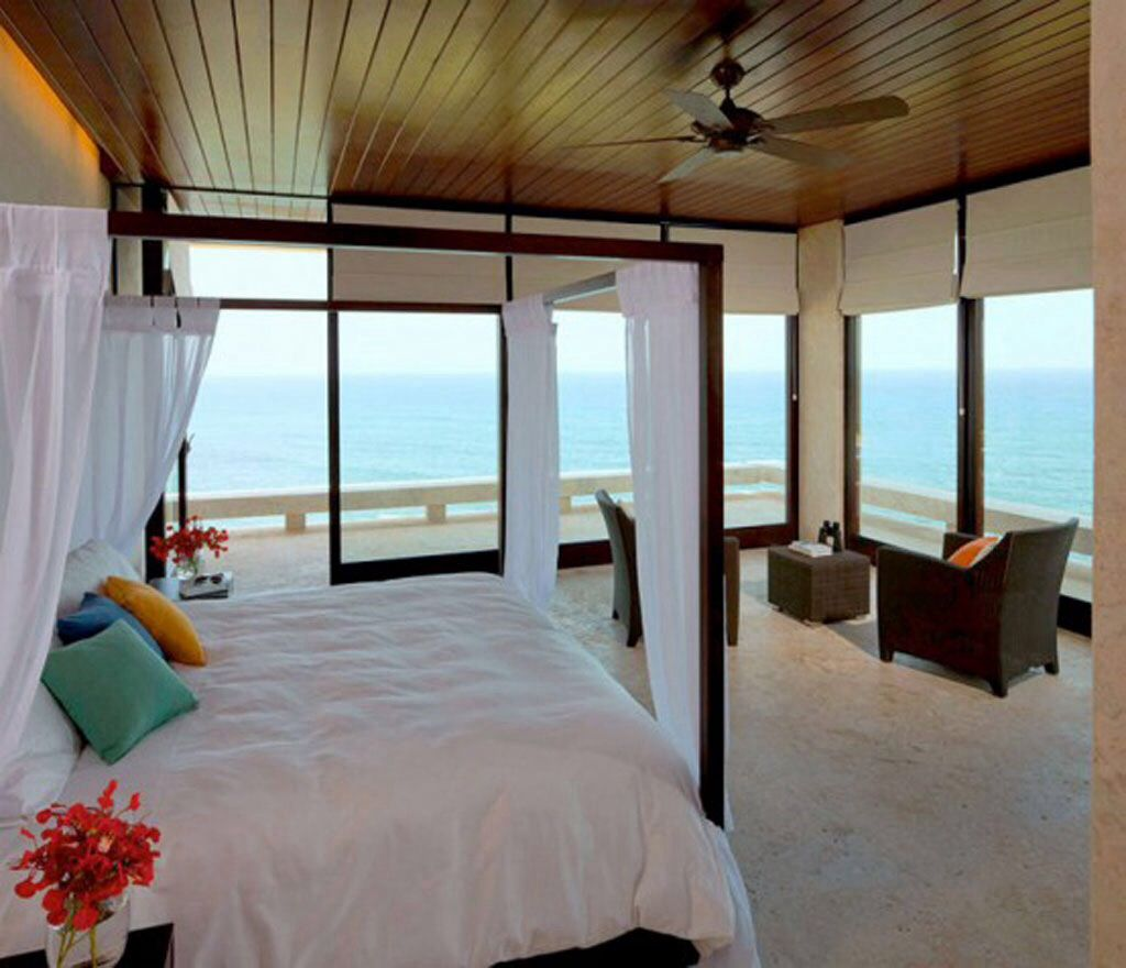 Beach bedroom with a view