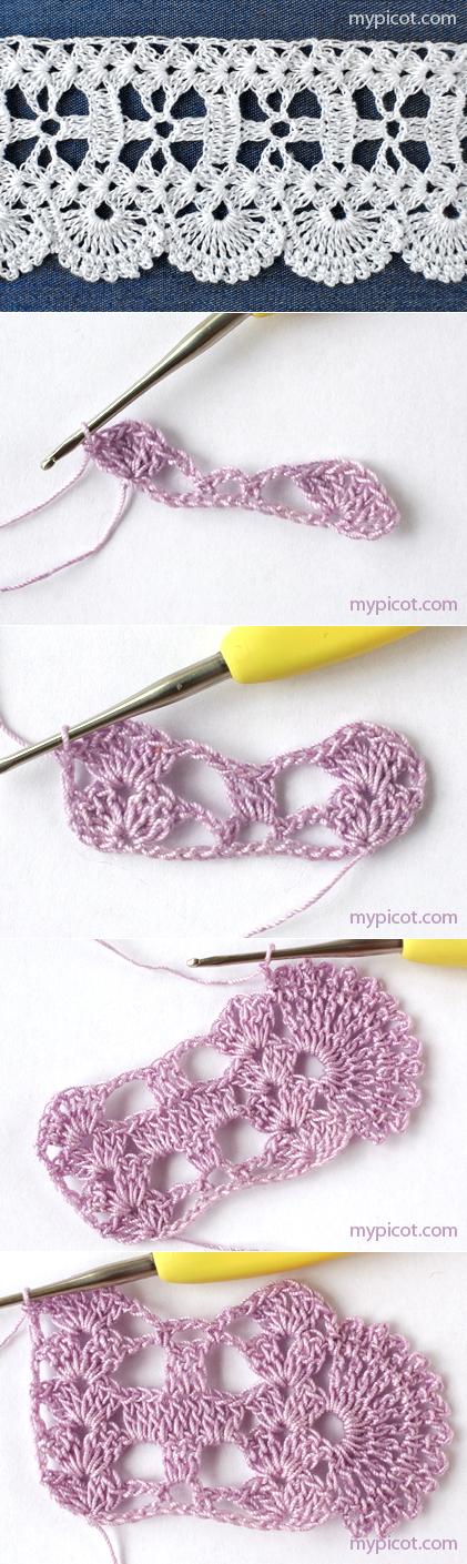 mypicot.com | my crochet pin | Pinterest | Ganchillo, Tejido y Puntadas