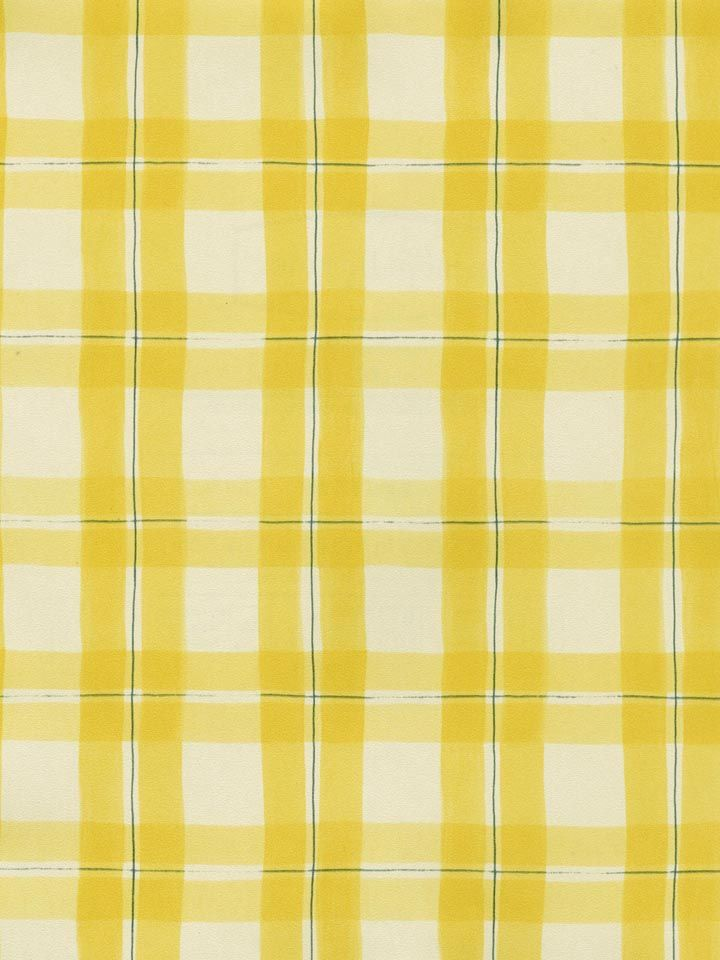 This Cheerful Blue Yellow Plaid Wallpaper Turns Any House Into A