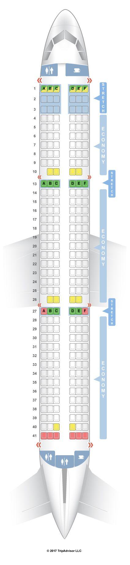 Frontier Seat Chart : frontier, chart, SeatGuru, Frontier, Airbus, (321), Seatguru,, Frontier,