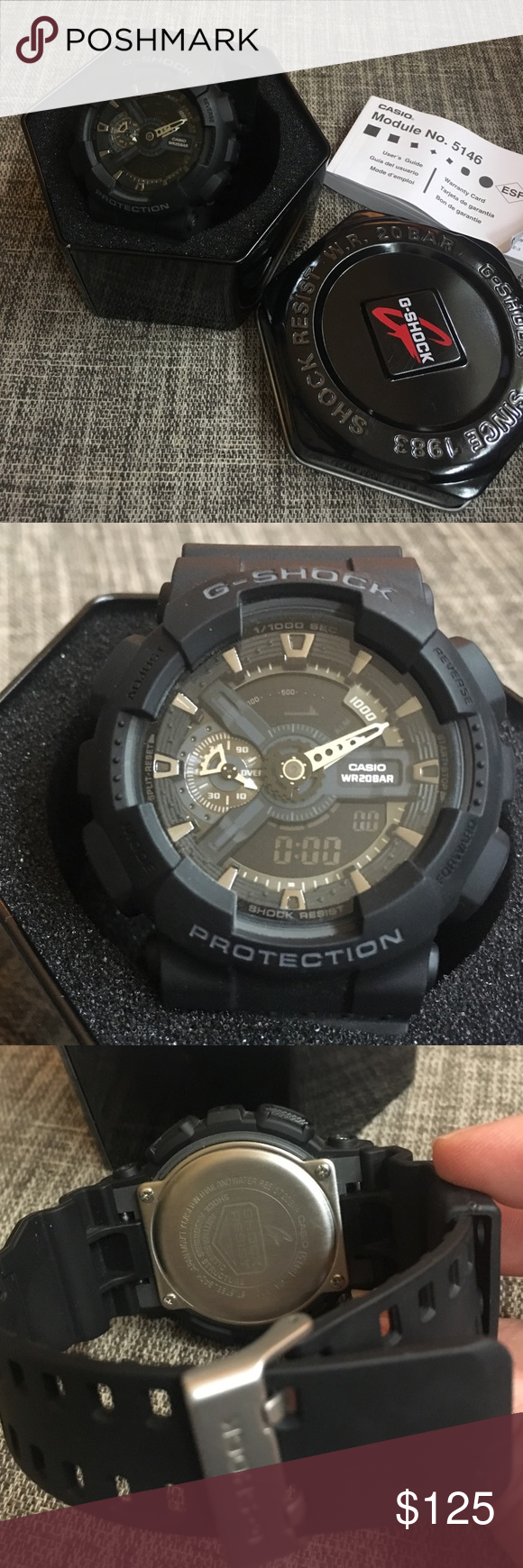 Watch - Casio G-Shock Casio GShock WR20 Bar like new - never worn.  Purchased for my son who did not like the size and style. With original  packaging and ...