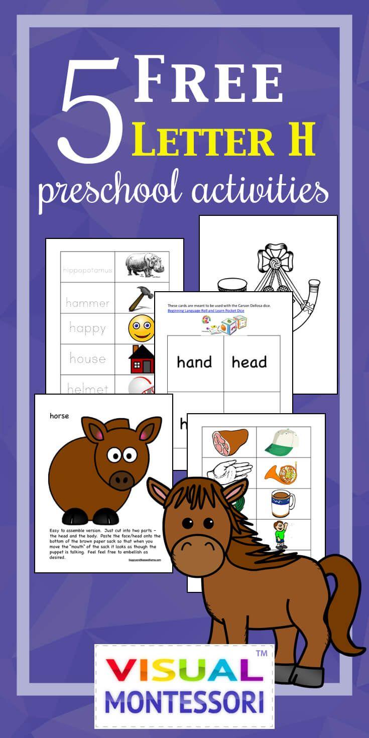 5 FREE Preschool Alphabet Letter H Activities for PreK