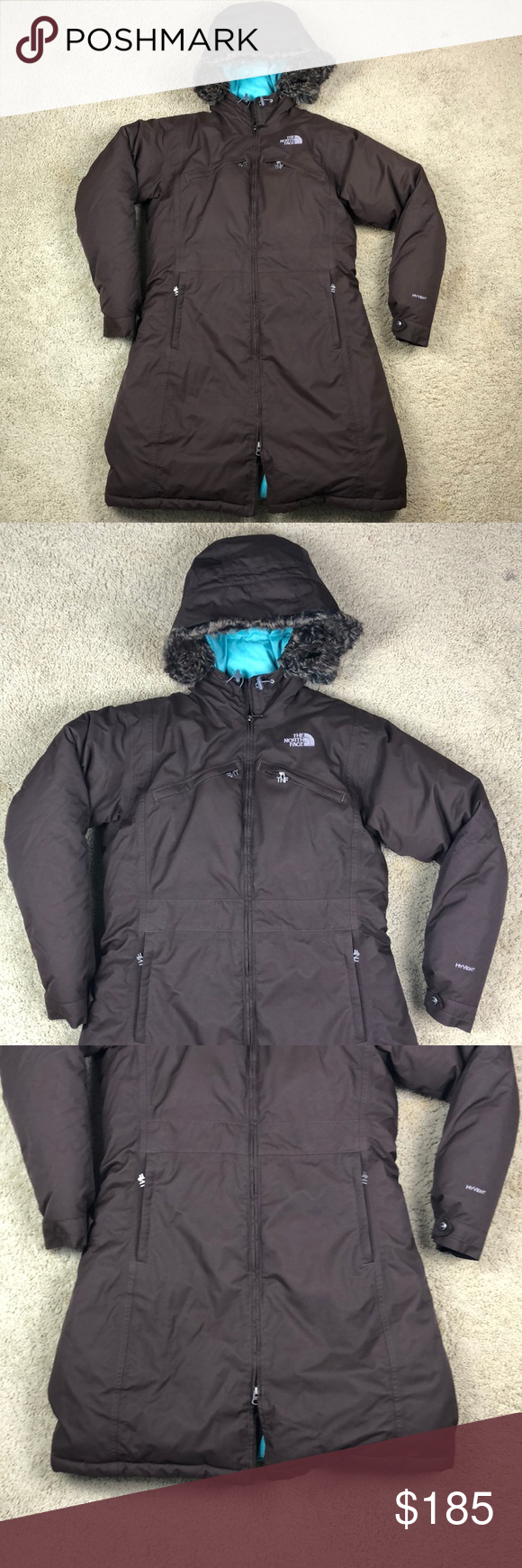 The North Face Parka Jacket Fur Hoodie Women Large North Face Parka Fur Hoodie Parka Jacket [ 1740 x 580 Pixel ]