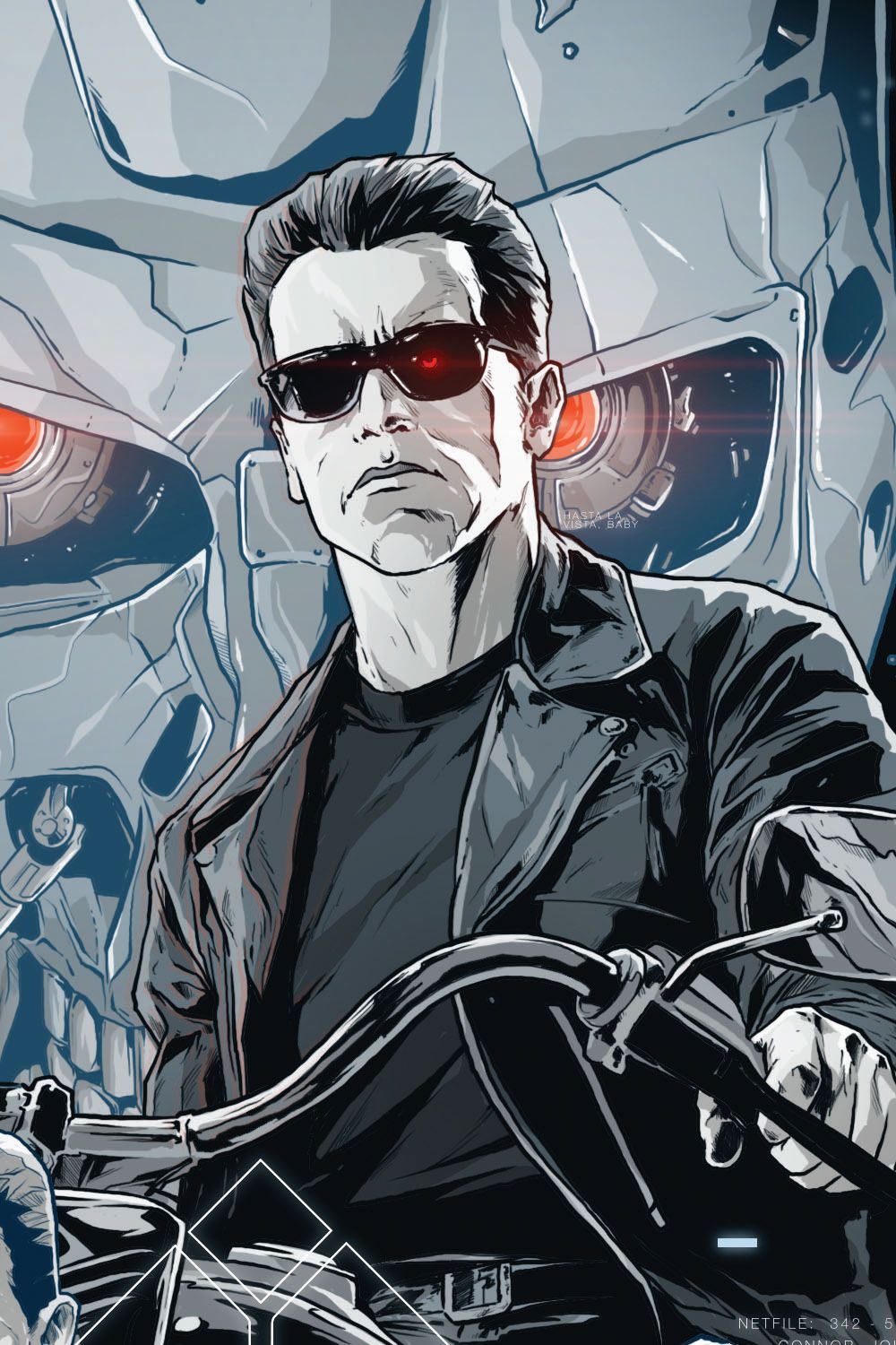 TERMINATOR 2 poster art on Behance Графические обои