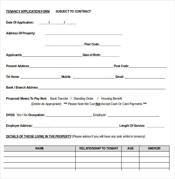 Rental Application Template - Rental Application Form Template By