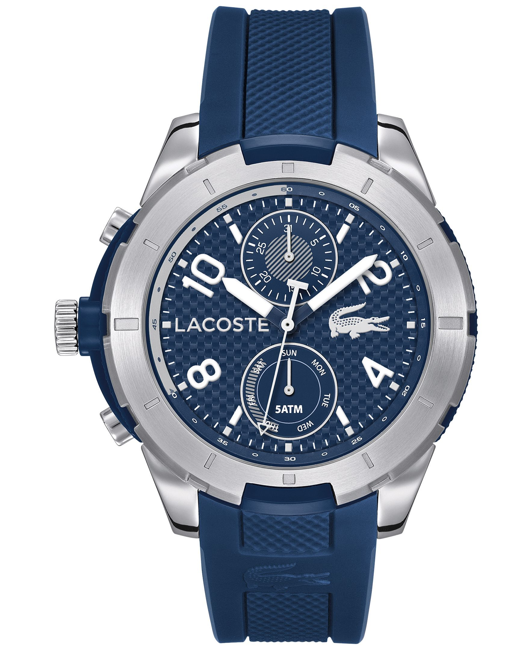lacoste men s tonga blue silicone strap watch 50mm 2010761 lacoste men s tonga blue silicone strap watch 50mm 2010761