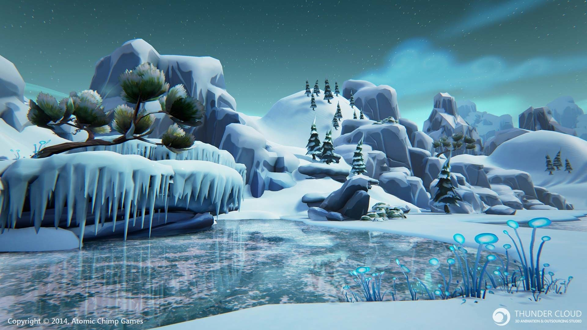 Winter Snow Thunder Cloud Game Art Environment Game Art Thundercloud