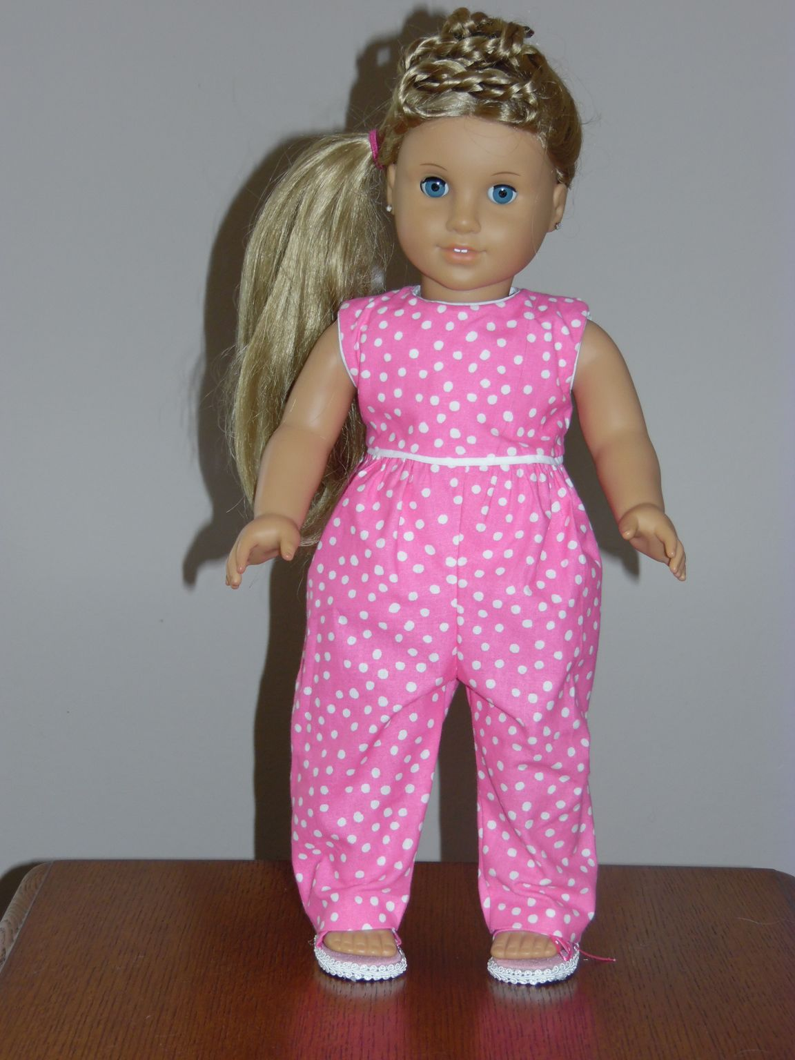 This romper is from a pattern on Pixie Faire. Easy to make. | Doll ...