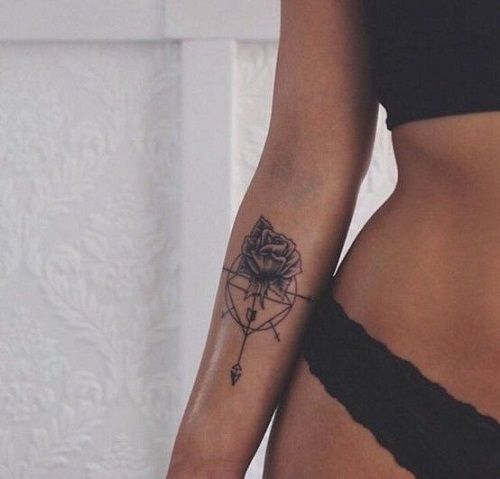 110 Best Compass Tattoo Designs, Ideas and Images -   21 compass cross tattoo ideas
