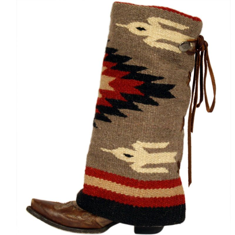 Womens Taupe Cream And Red Aztec Boot Rugs Wish List Pinterest