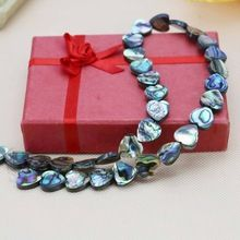 L066 Hot! Fashion natural 12mm color abalone shell beads heart,Fit beautiful women jewelry DIY making wholesale Lucky girl gift(China (Mainland))