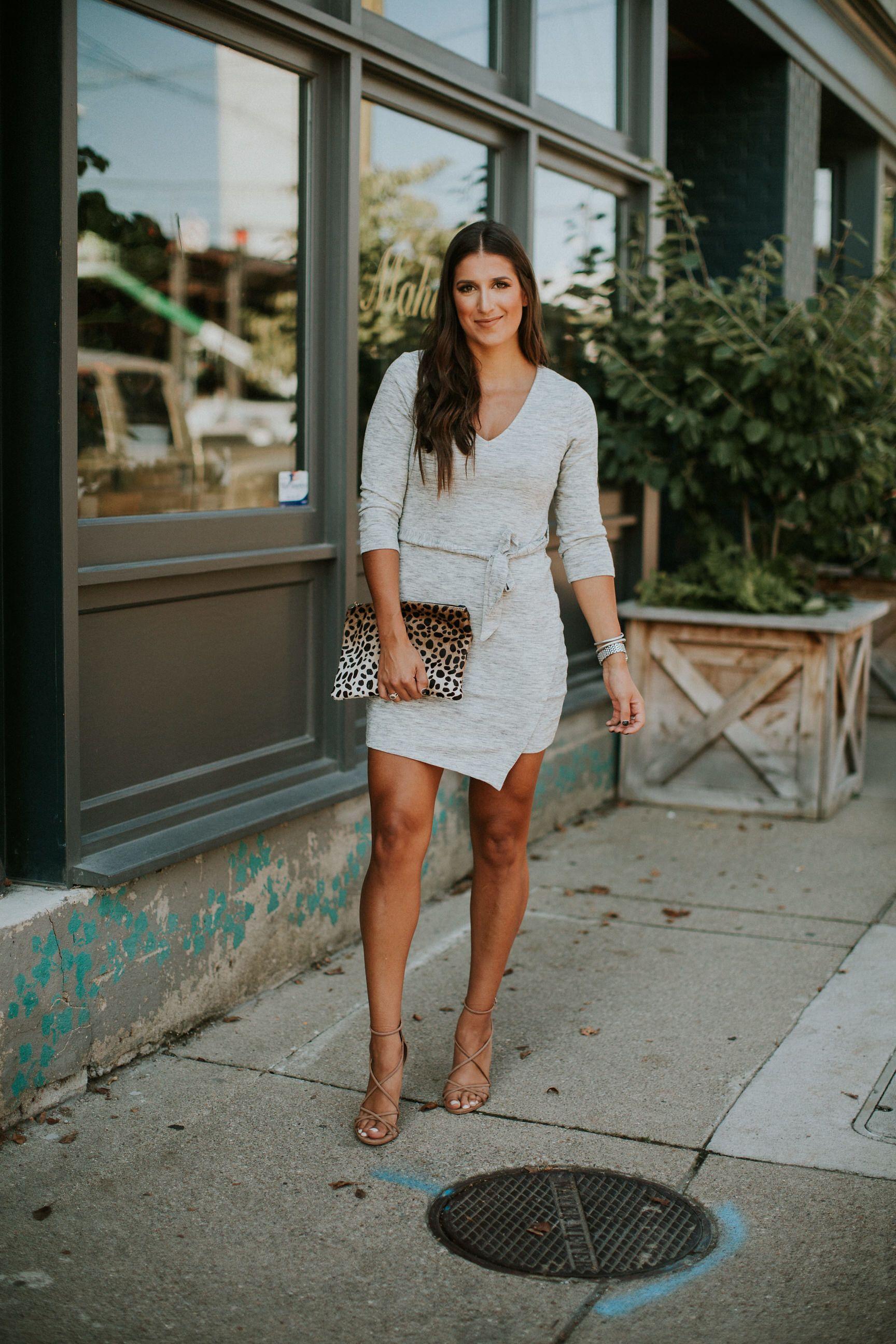 Sweater Wrap Dress A Southern Drawl Wrap Sweater Dress Grey Knit Dress Fashion [ 2592 x 1728 Pixel ]
