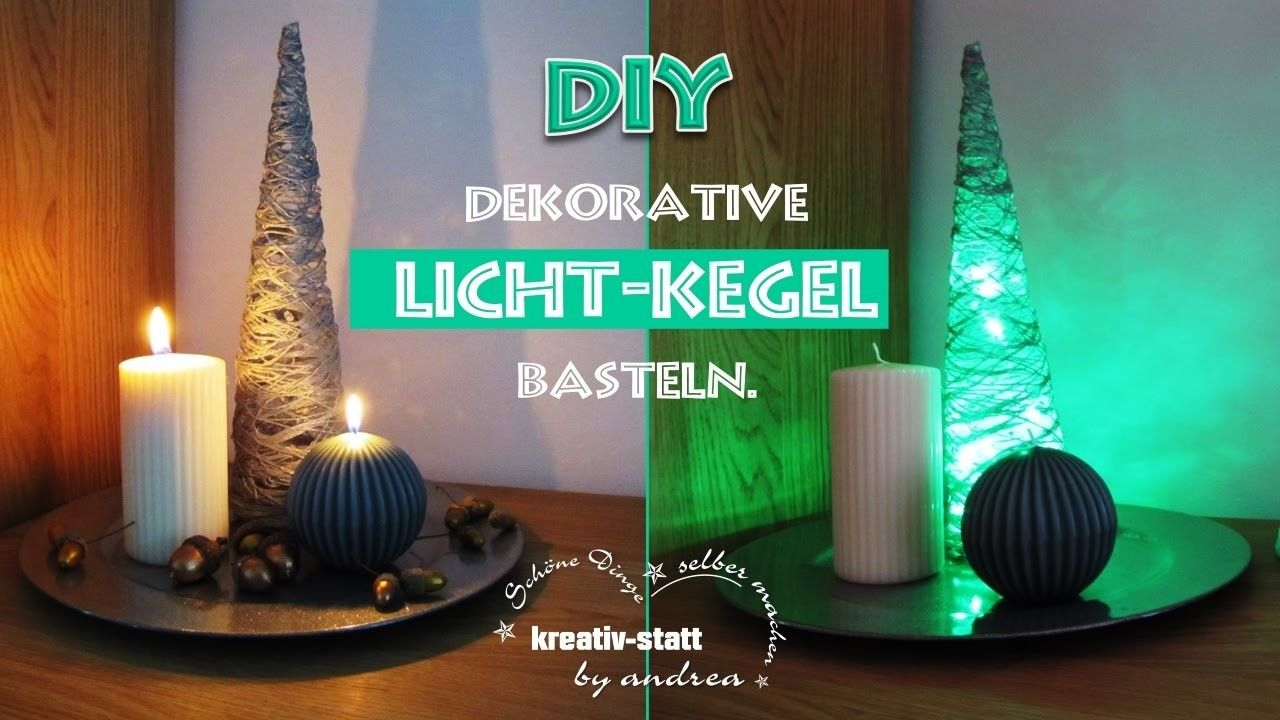 DIY Basteln - Dekorativen Licht Kegel. Tinker - Deco Light Cone