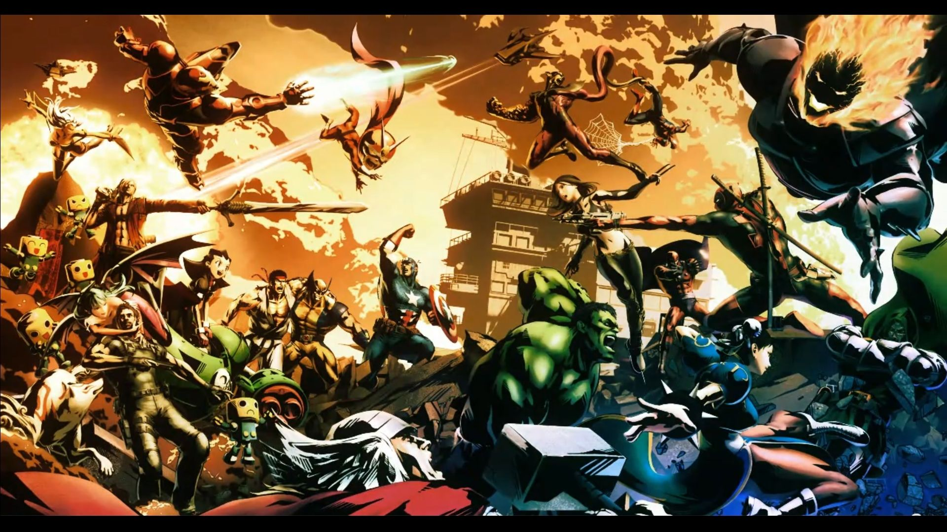 F472f82a96551dde79e98b4321ebce27 Jpg 1920 1080 Marvel Wallpaper Marvel Vs Capcom Creative Graphics