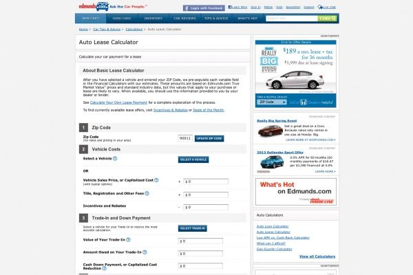 Finding the Right Car click on the Auto Calculators link to find out