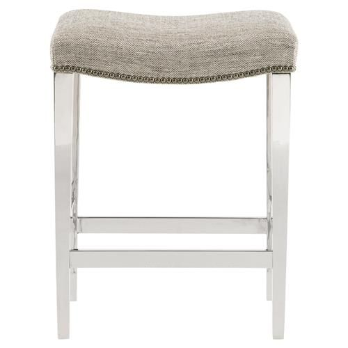 Piera Modern Stainless Steel Grey Herringbone Counter Stool Counter Stools Stool High End Furniture Stores