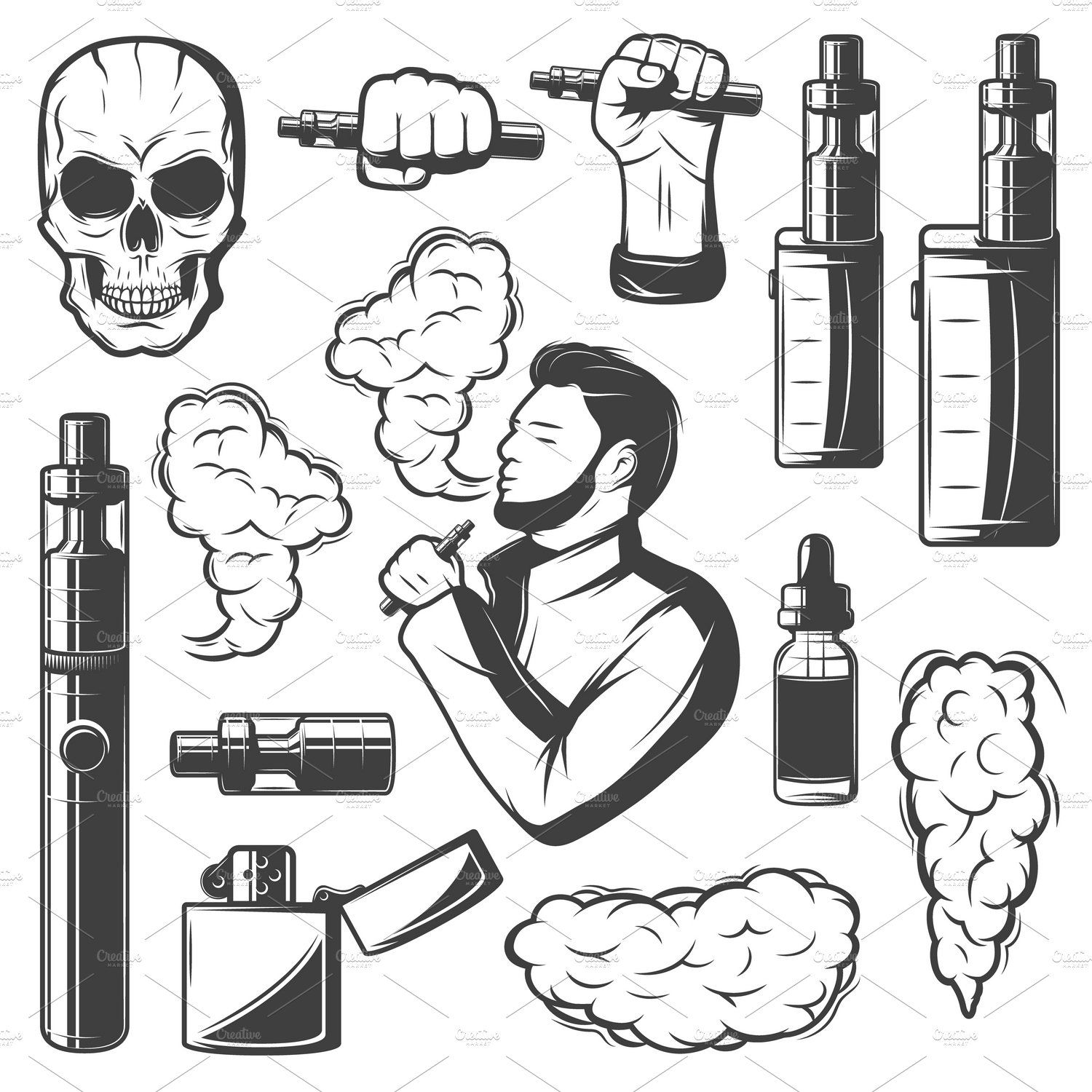 Vape Elements Collection (With images) Smoke vector