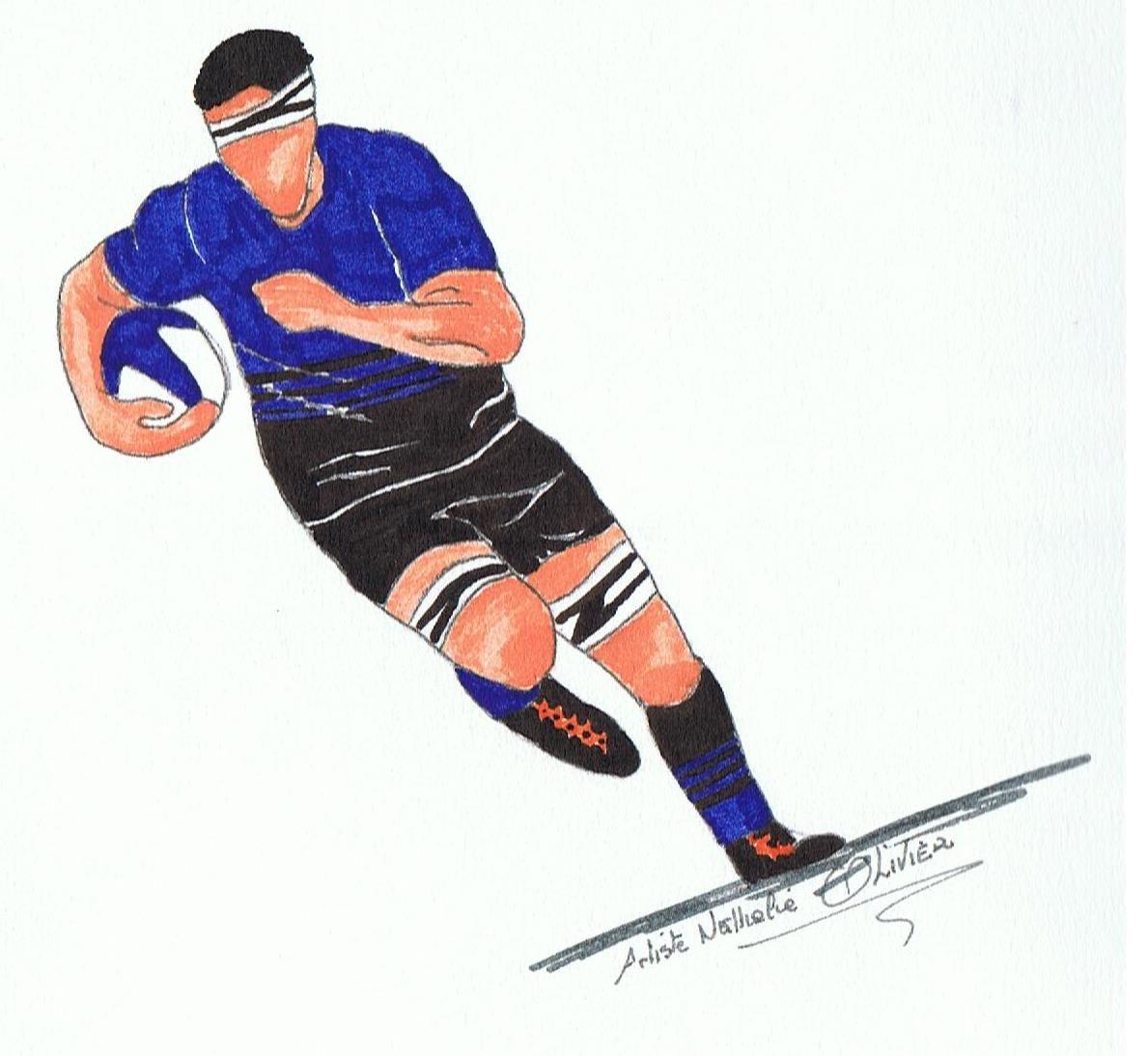 Artiste Basque Peintures Olivier Nathalie Dessins Prochaine Dessin Rugby Dessin Dessin Sport