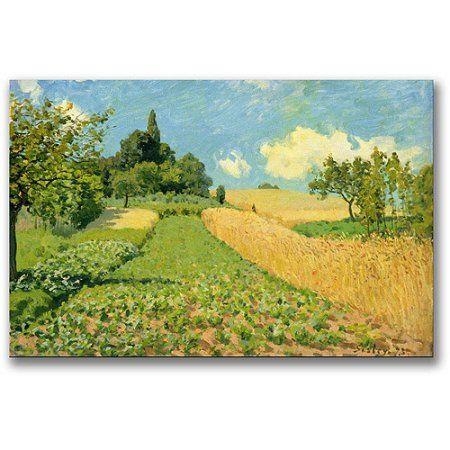 Trademark Fine Art The Cornfield Canvas Wall Art by Alfred Sisley ...