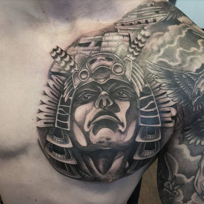 Aztec Tattoo | Tattoos | Aztec tattoo designs, Mayan ...