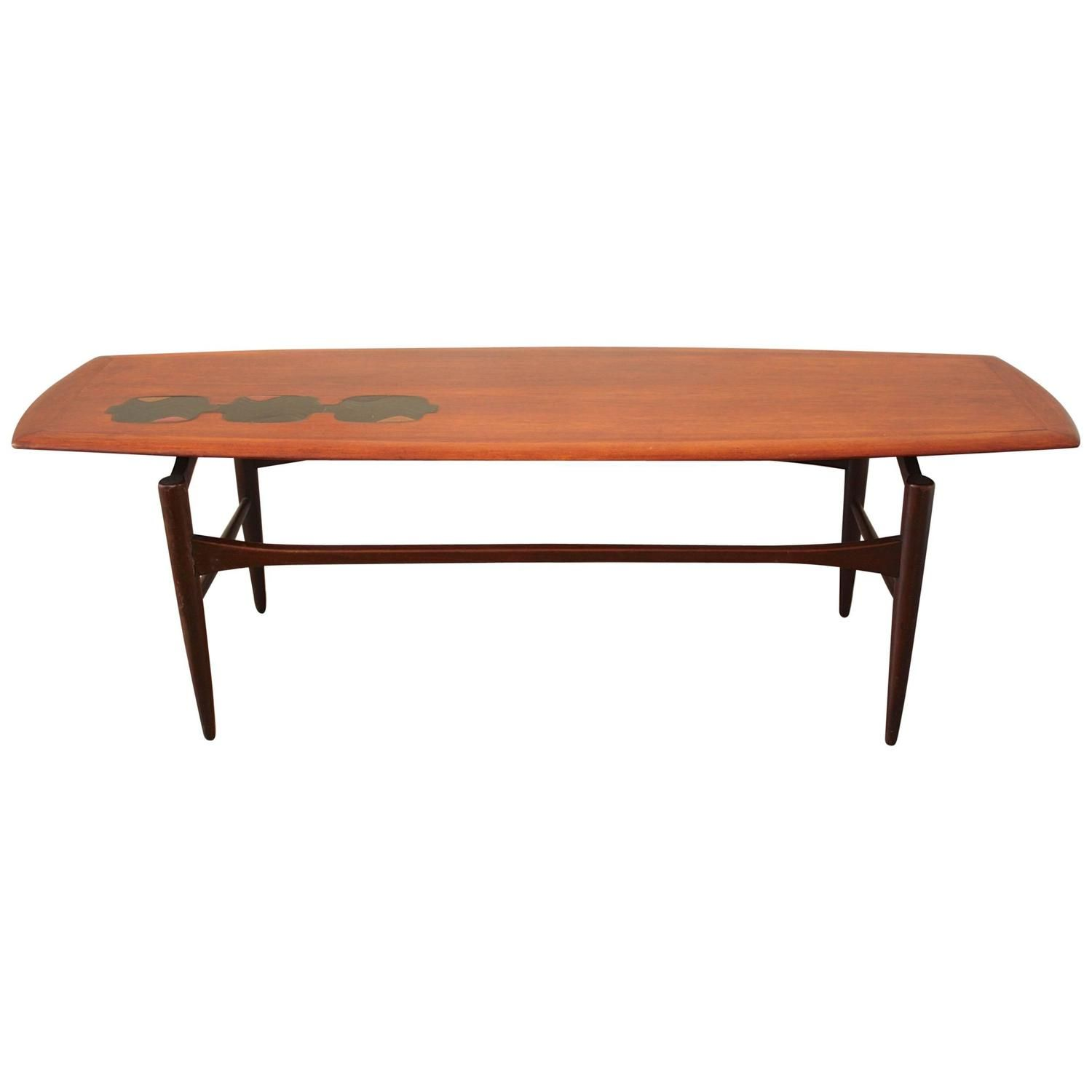 Dutch Coffee Table Made From Teak With Inlay 1960s Stol