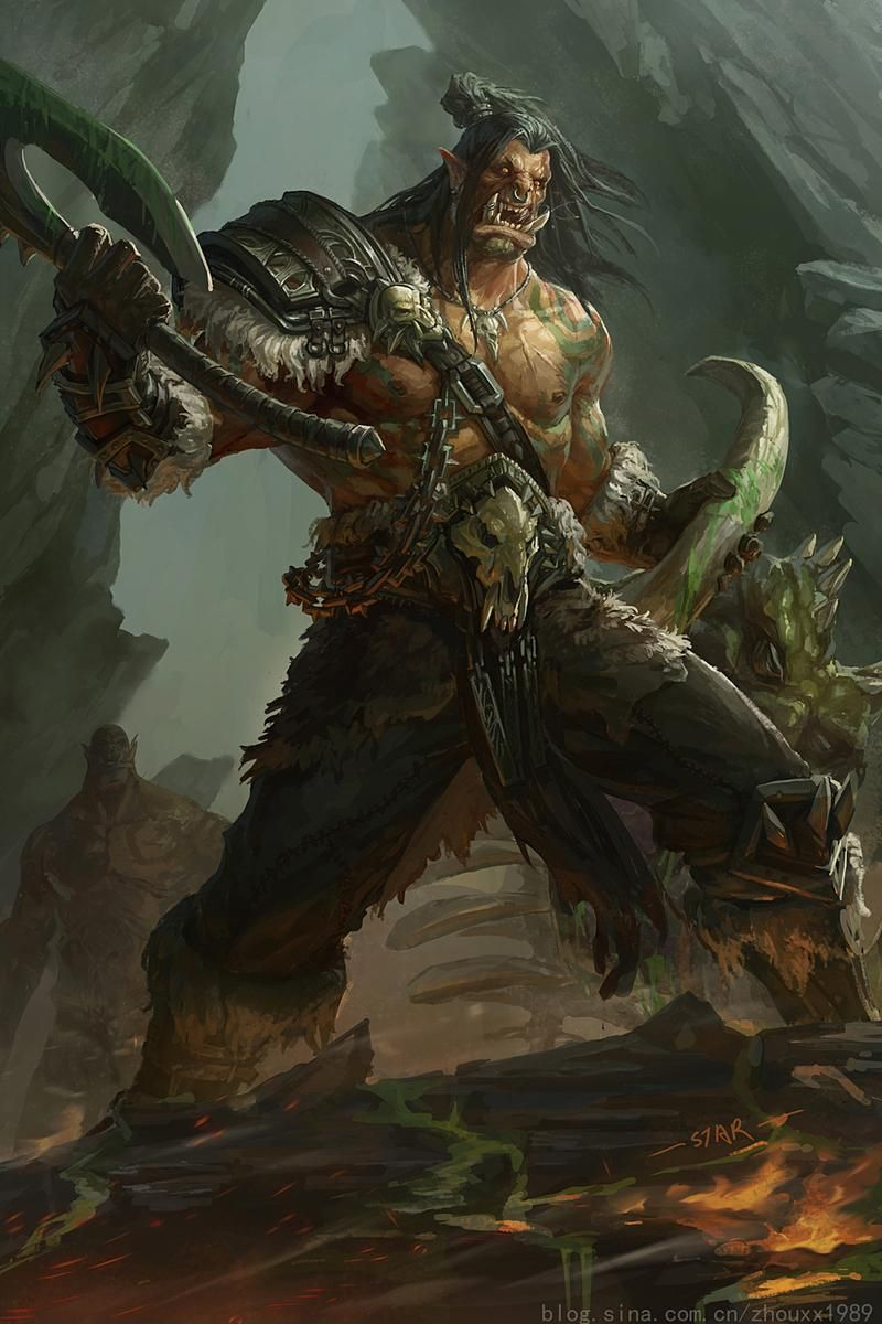 Hearthstone On Twitter Warcraft Art Warcraft Orc Orc Warrior