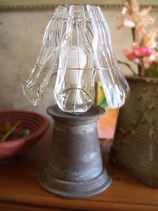 Slumped Glass Bottle Lamp Shade Delphi Artist Gallery Slumped
