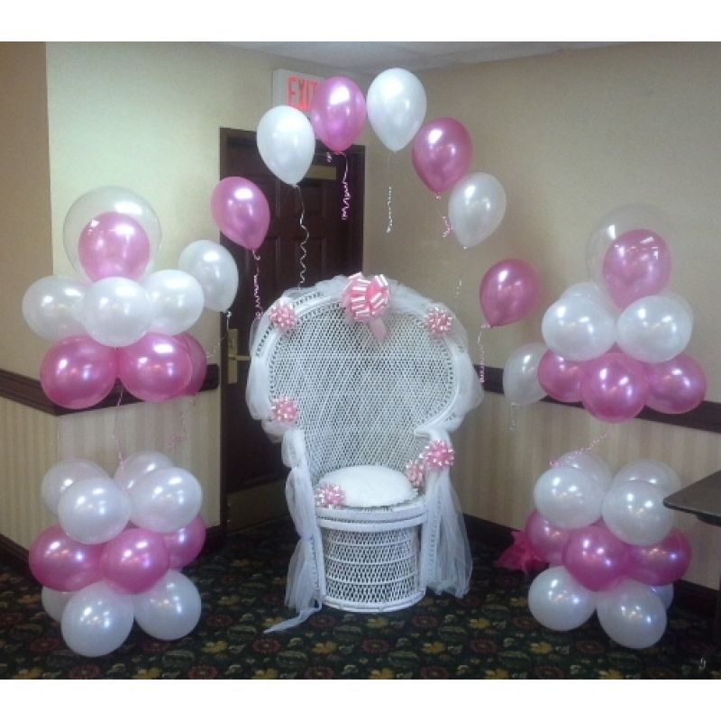 Baby Shower Mom's Chair Decor