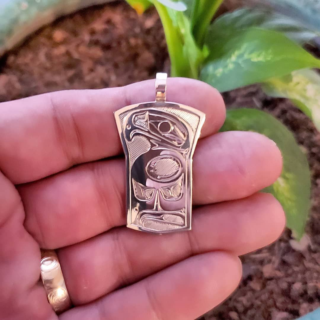Eagle Design Copper Shield Pendant Sterling Silver Available Dm For Details Eagle Design Designer Firstnationsart Fashi In 2020 Diy Jewelry Jewelry Class Ring