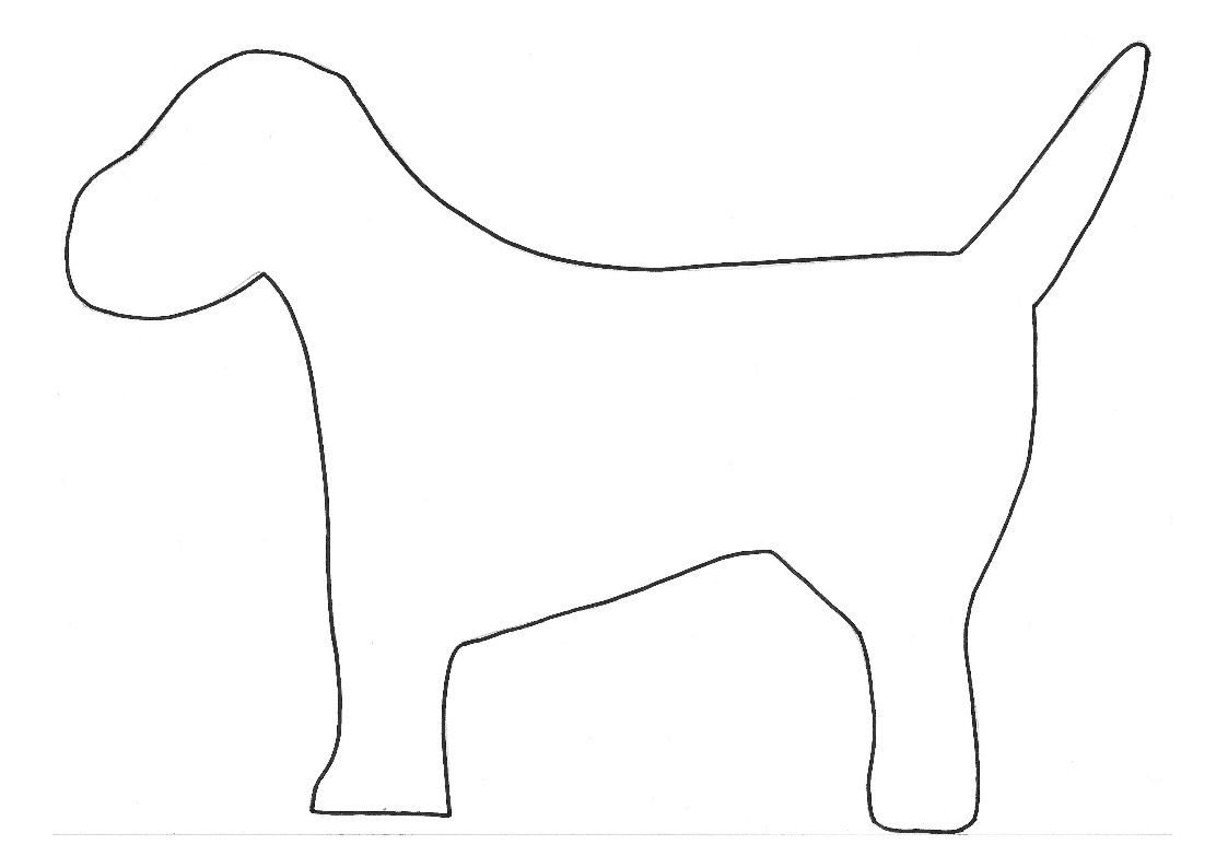 Dog Template To Create The Dalmatian Craft
