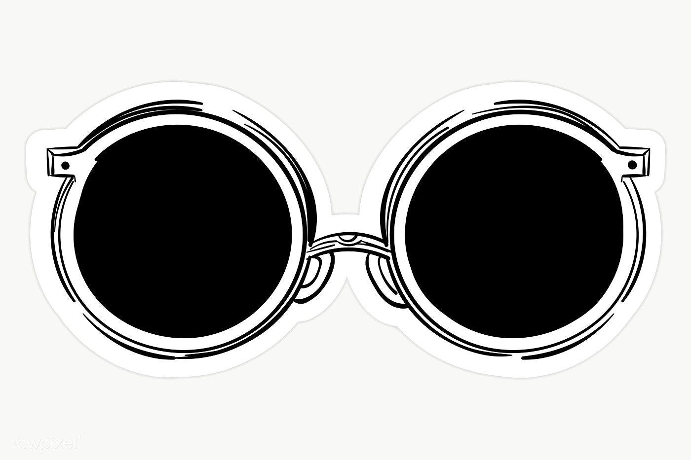 Black Round Vintage Sunglasses Transparent Png Premium Image By Rawpixel Com Sasi Round Sunglasses Vintage Sunglasses Vintage Black And White Stickers