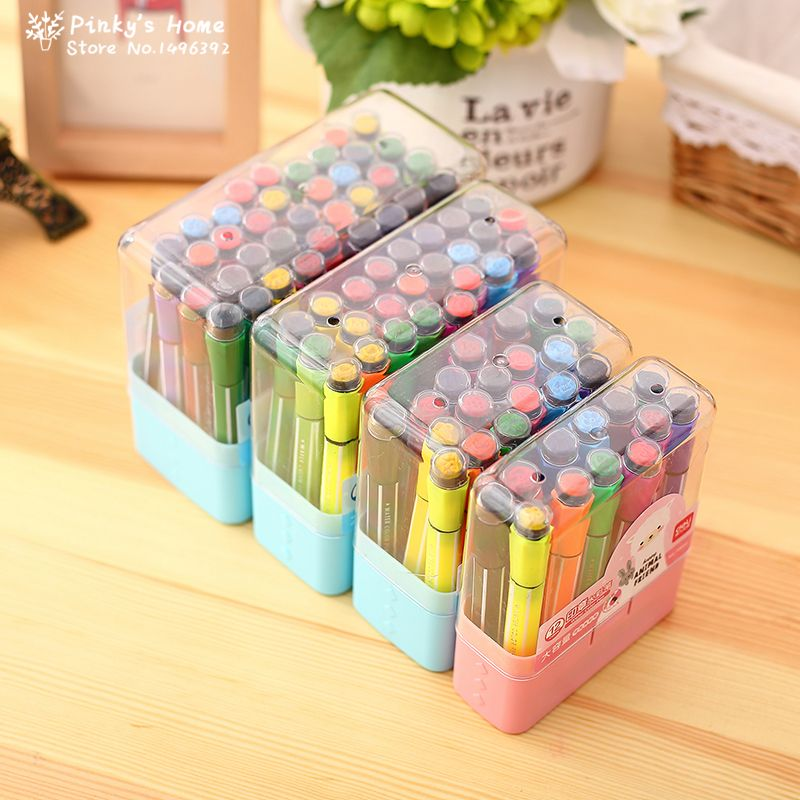 12//18//24//36 Color Washable Watercolor Marker Painting Drawing Pens Kids Art