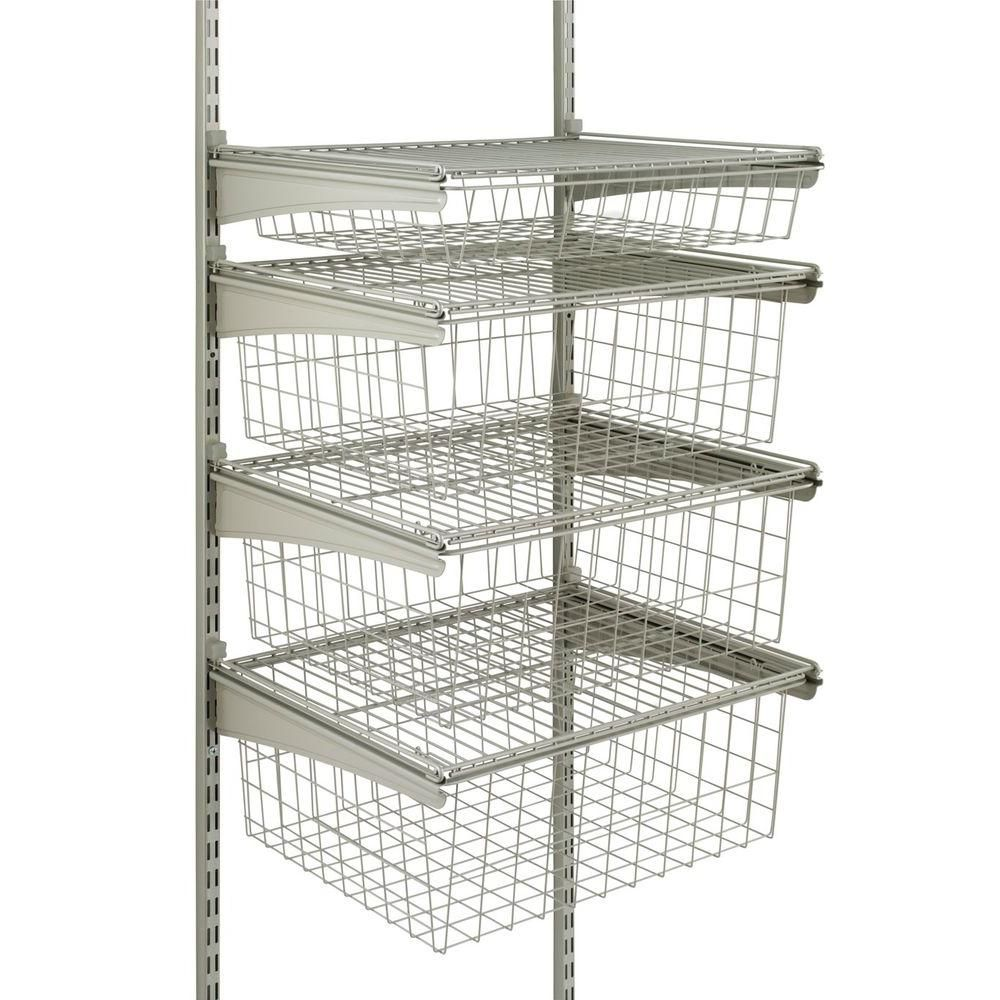 ClosetMaid ShelfTrack 21 In. X 17 In. Ventilated Wire 4 Drawer Kit In