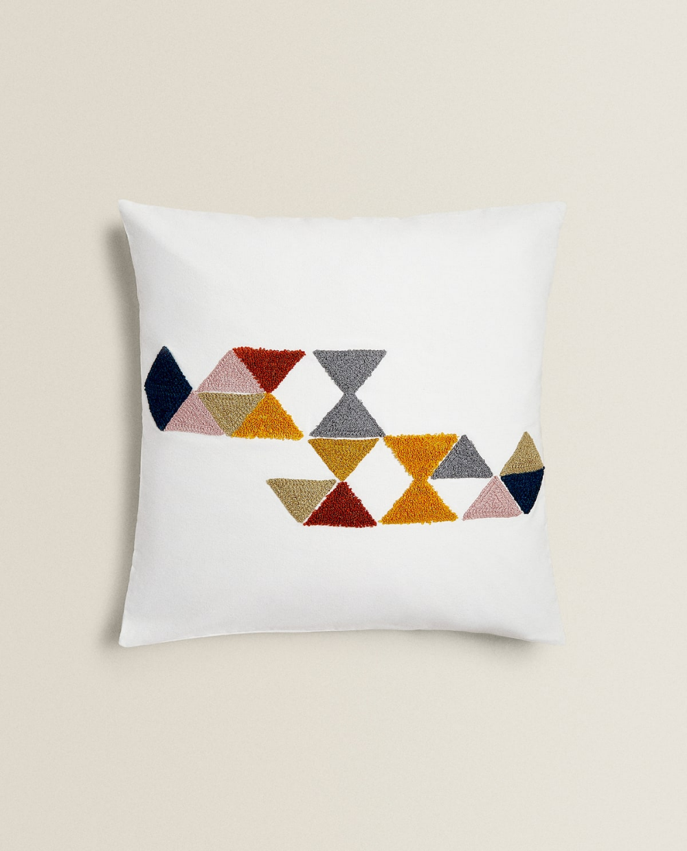 Image 1 Of The Product Cushion Cover With Triangle Embroidery Kirlent Yastiklar Zara Home